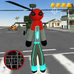 Download Spider Stickman Rope Hero Crime City bBattle 1.0 APK For Android