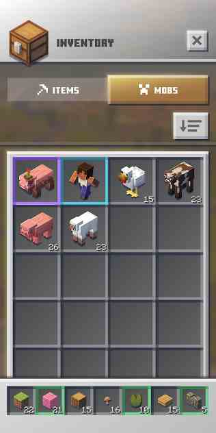 Minecraft Earth Inventory