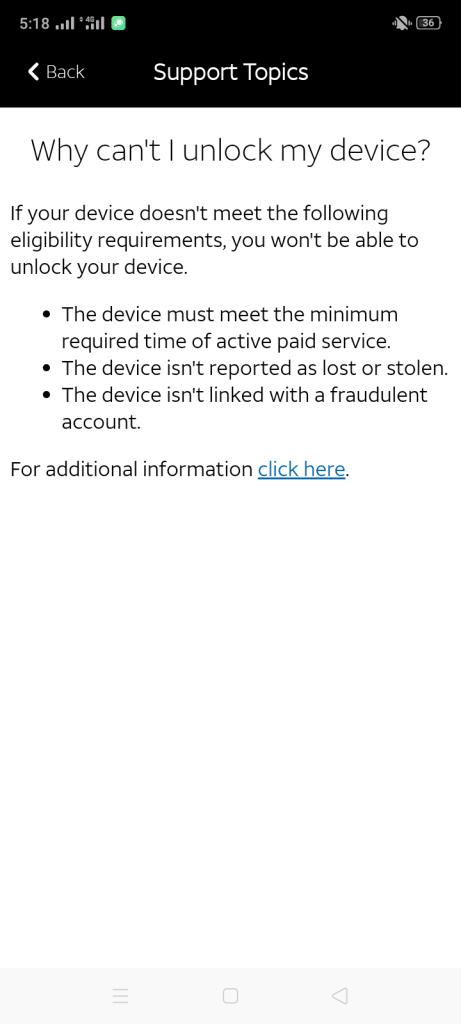 Screenshot of AT&T Device Unlock Apk