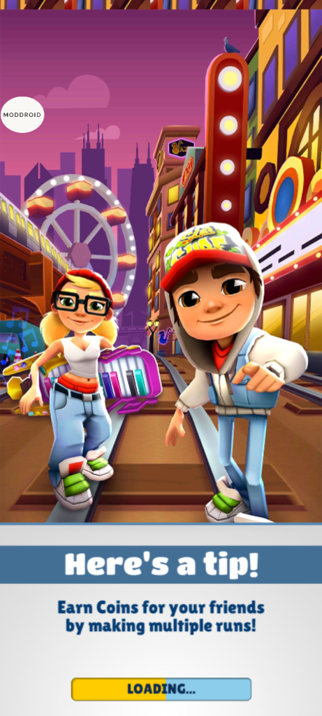 Screenshot of Subway Surf Mod Apk Natal