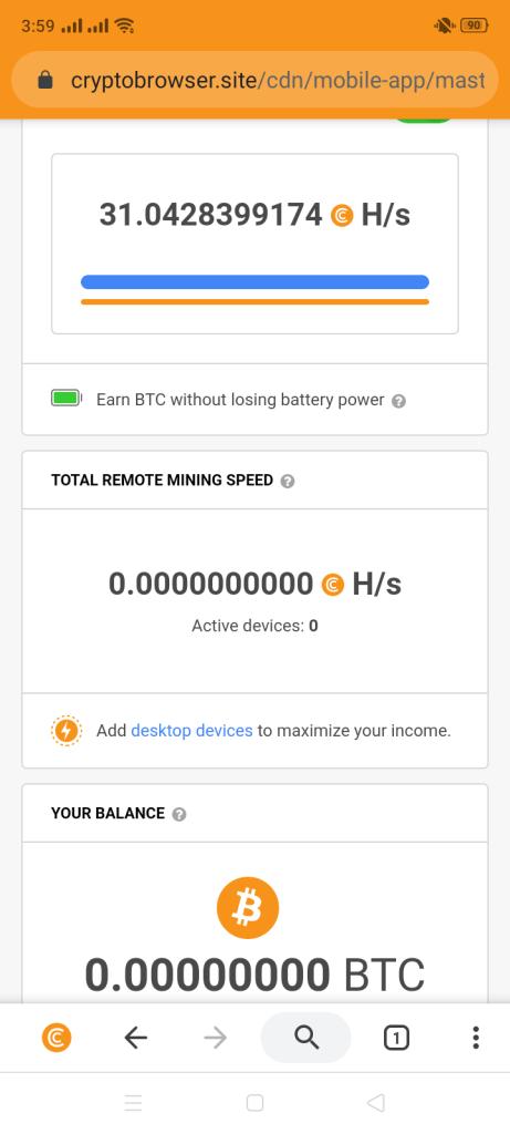 Screenshot of Cryptotab Browser Pro Apk