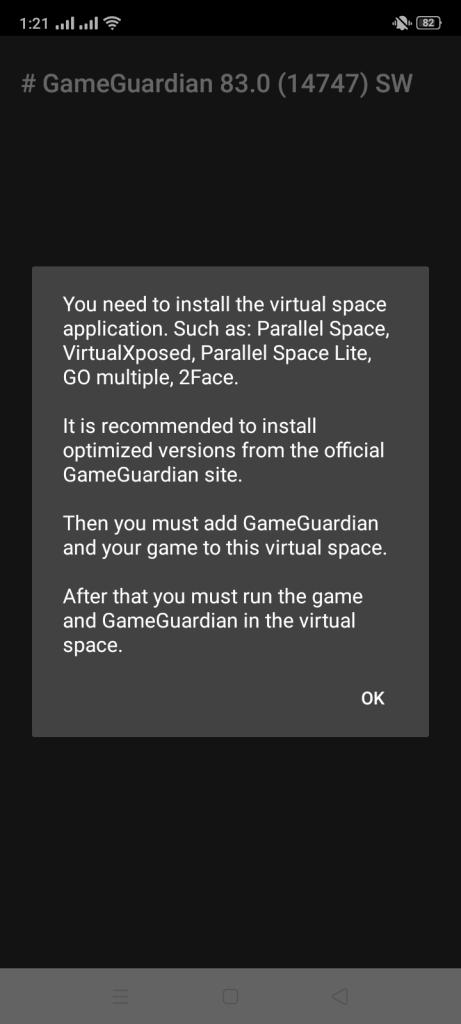 Screenshot of GG Mod IVG