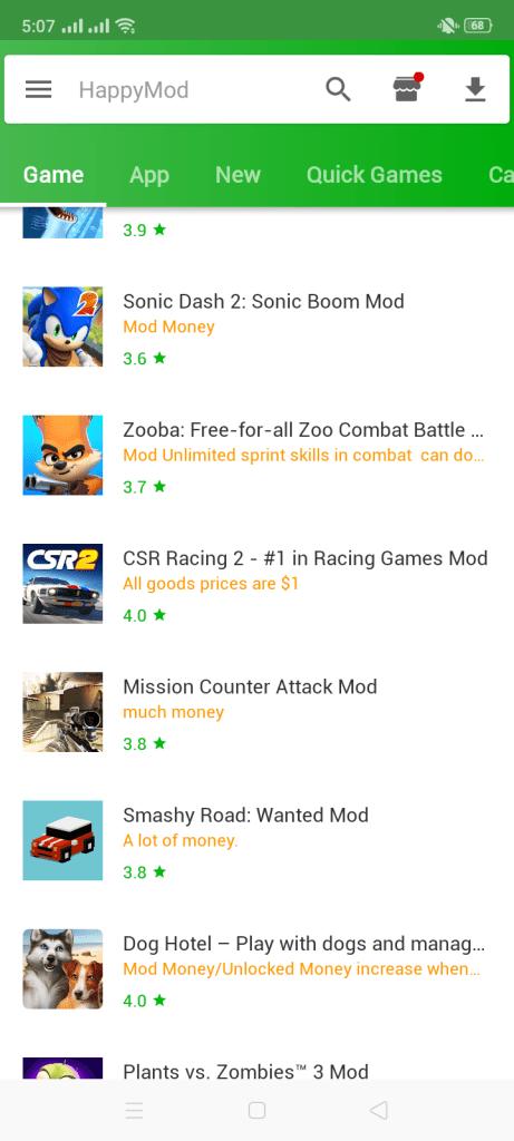 Screenshot of Happy Hack Apk