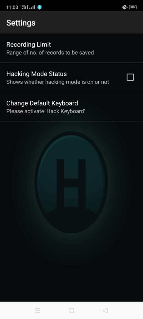 ScreenShot of Hacker Keylogger Apk