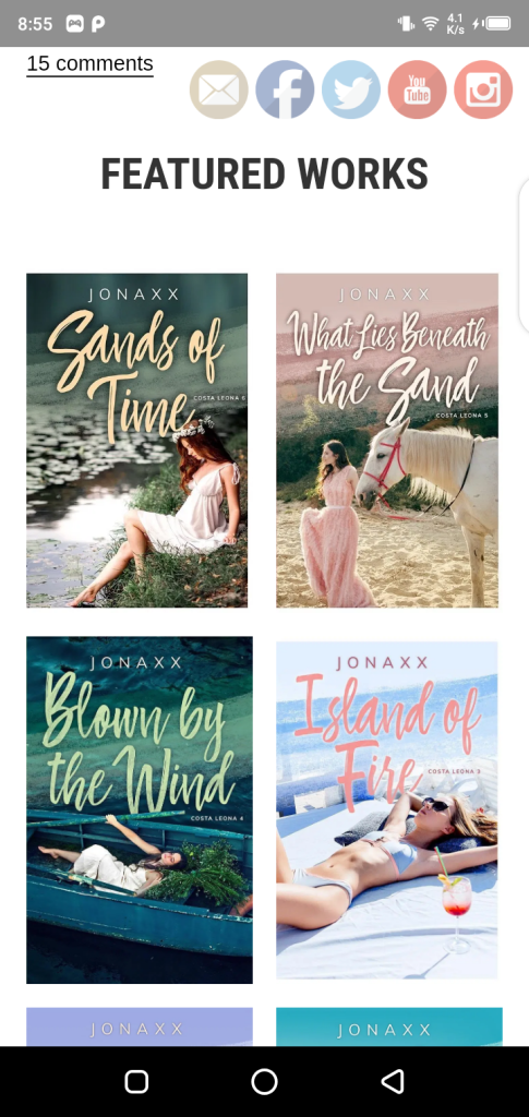 Screenshot of Jonaxx Stories APK