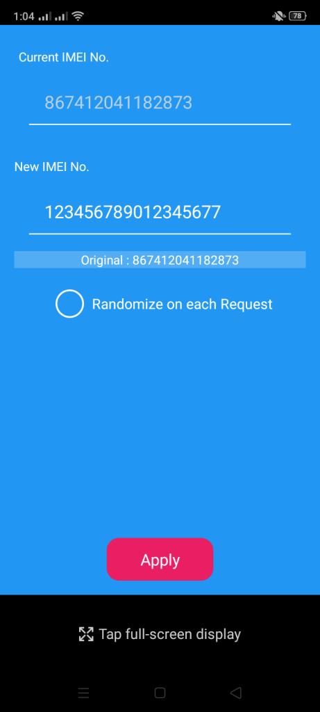 Screenshot-of-IMEI-Changer-Pro