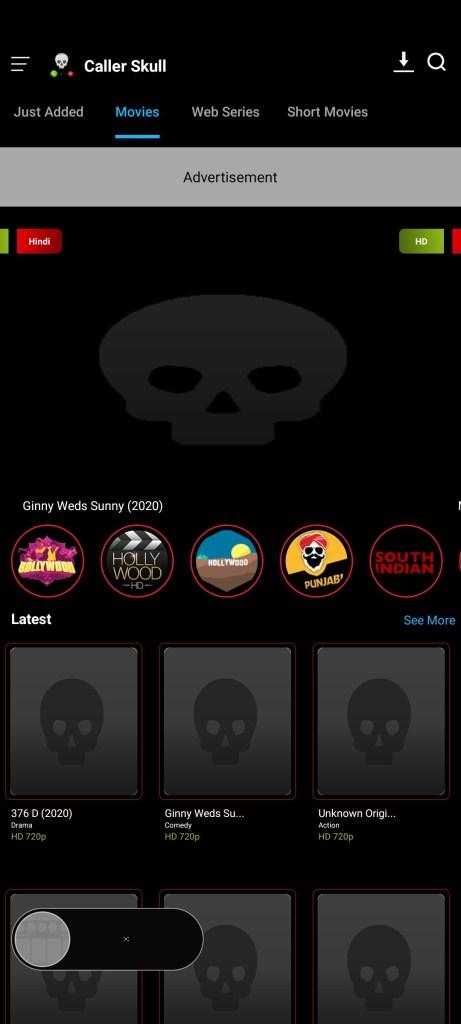 Screenshot-of-Caller-Skull-Apk
