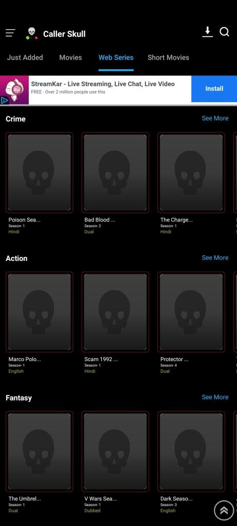 Screenshot-of-Caller-Skull-App