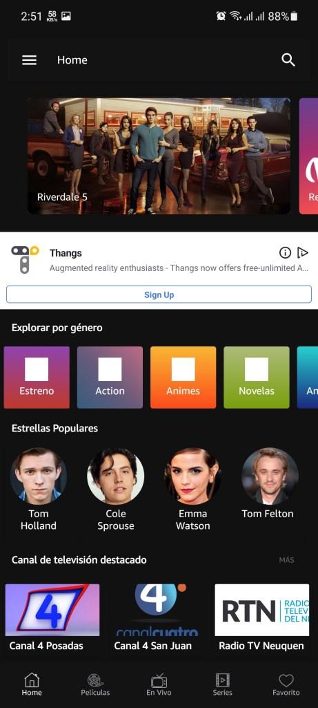 Screenshot of Cuevana 3 Pro App
