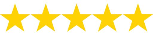 5 Star Rating on Amazon