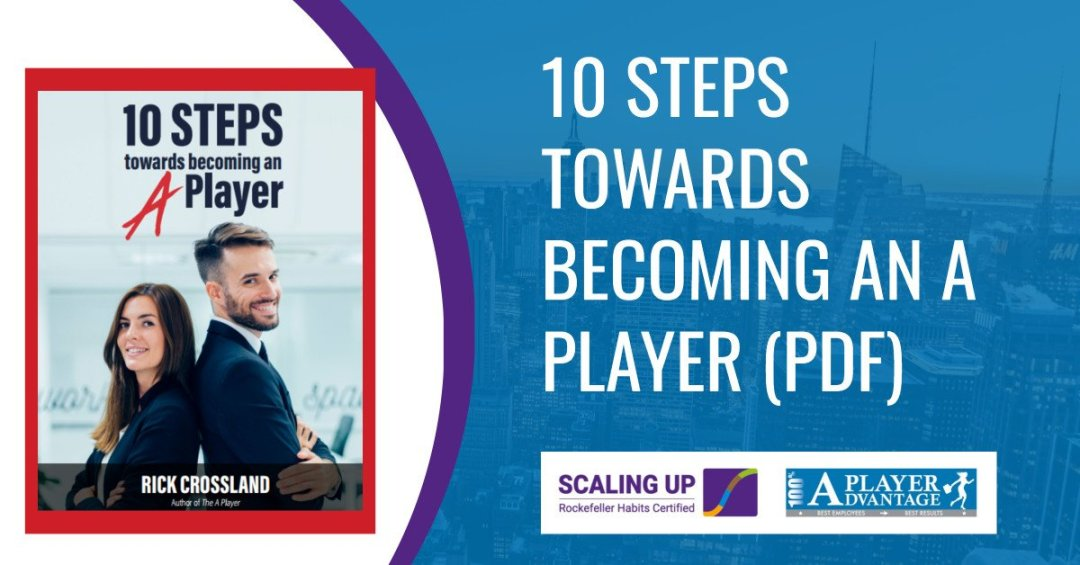 10 steps towards becoming an a player book cover