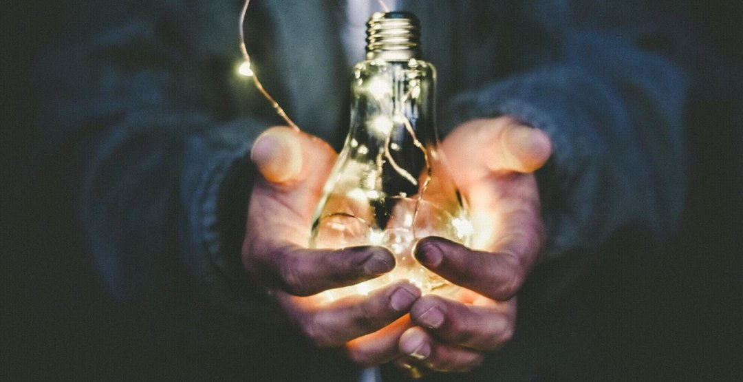 Man holding led lights