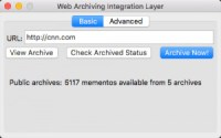 s web archiving integration layer