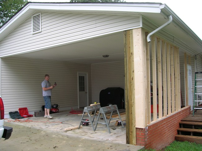 Carports Turned Into Garage Image