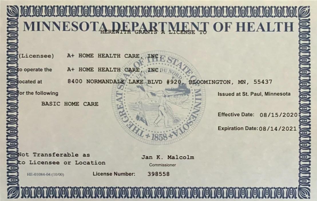MDH License end 8.14.2021