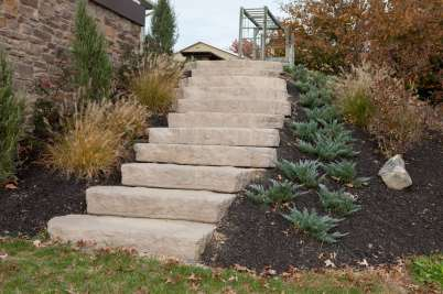 natural stone stairway in Willow Street, PA