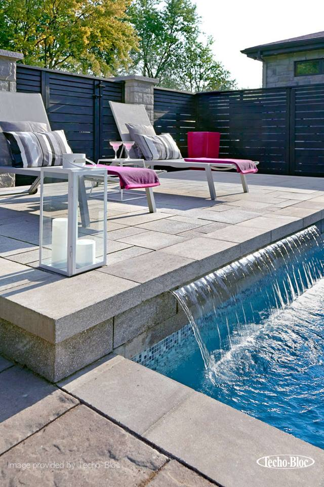techo-bloc water feature example