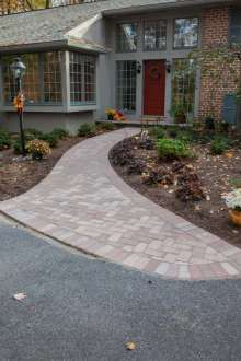 brick walkway in Lancaster, PA