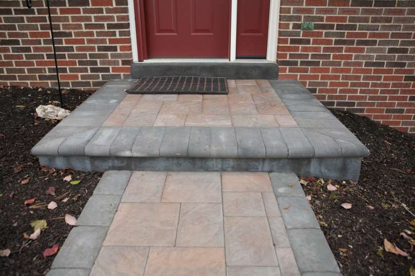 natural stone steps and patio in Ephrata, PA