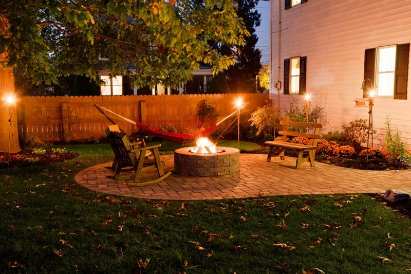 outdoor fire pit area Lancaster County, PA
