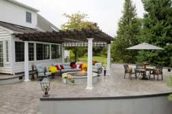 outdoor fire pit area Chester County, PA