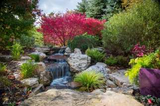 backyard waterfall example