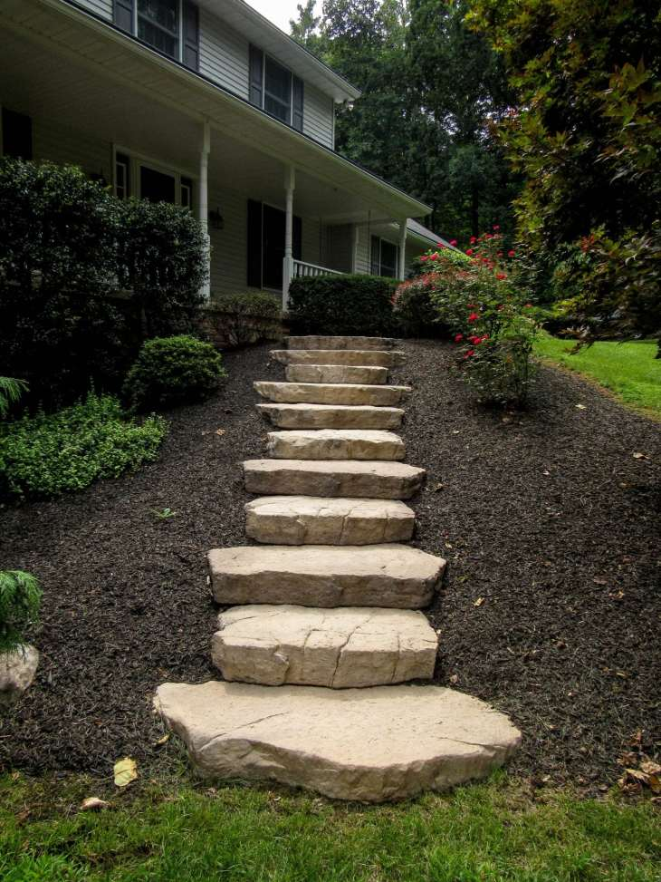 natural stone stairs in Lebanon County, PA