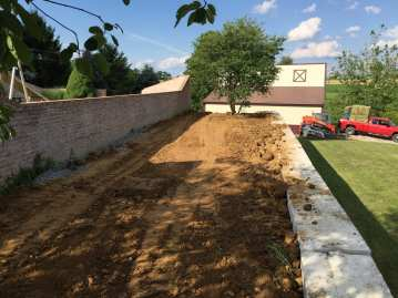 landscape excavation in Lancaster County, PA