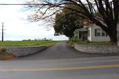 block wall in driveway in Lancaster, PA