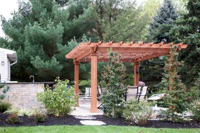 custom wood pergolas in chester county pa