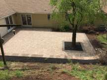 natural stone patio and retaining wall in Lebanon, PA