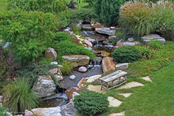 outdoor water feature in berks county pa
