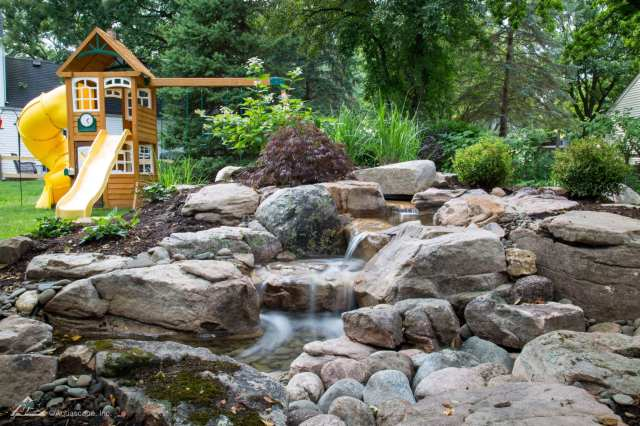 outdoor waterfall example