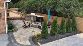 outdoor fireplace area in Chester County, PA