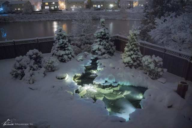 outdoor water pond in winter in lancaster pa