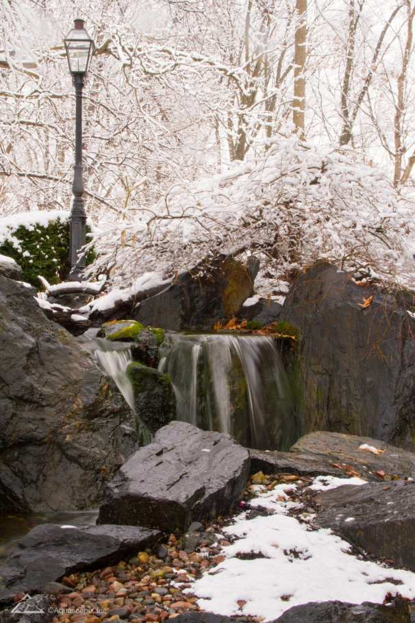 outdoor waterfall in lancaster pa