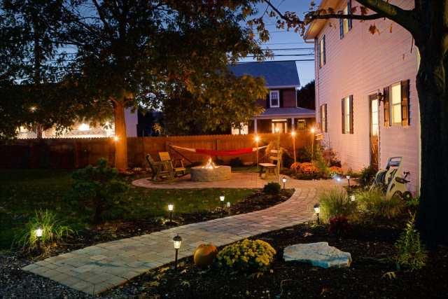 outdoor landscape lighting in Lancaster, PA