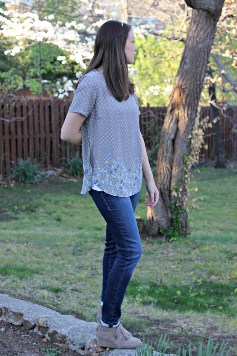 Alice Blue Guthie Side Split Blouse - Stitch Fix Review #12 by Missouri style blogger A + Life