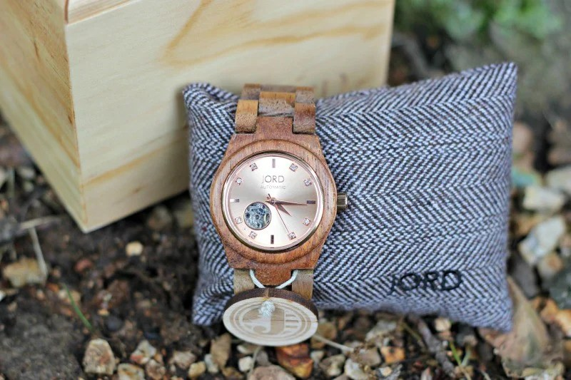 Jord Cora Koa and Rose Gold Watch