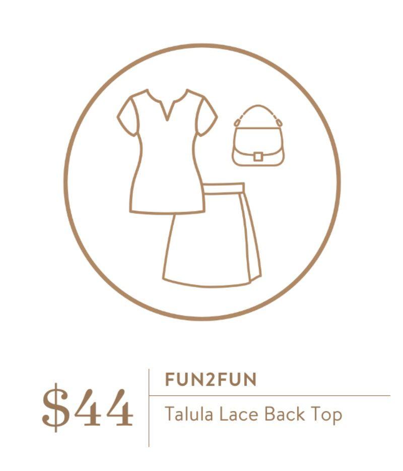Stitch Fix Fun2Fun Talula Lace Back Top