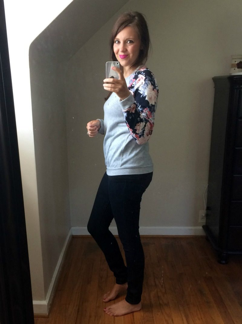 Stitch Fix Mauly Mixed Material Knit Top