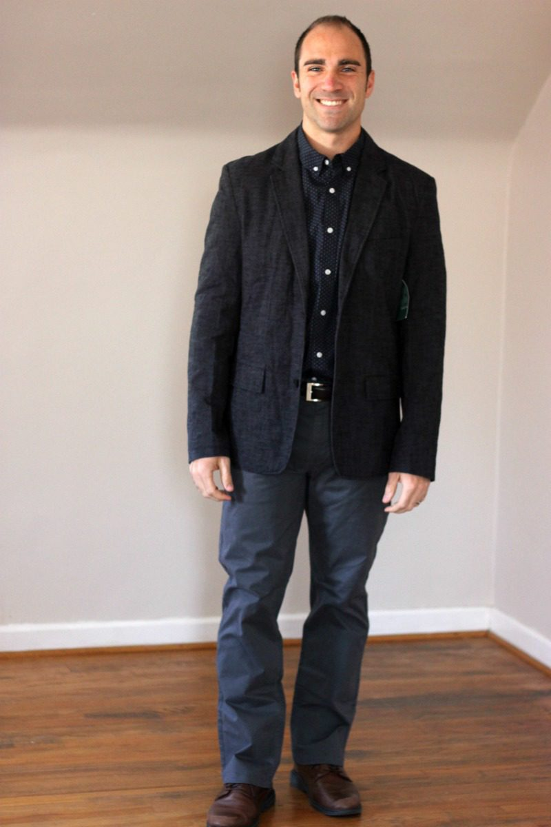 JACHS Greenfield Textured Cotton Blazer