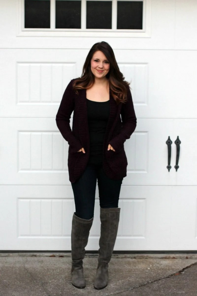 Stitch Fix Cardigan, Stitch Fix Reveal, Stitch Fix Review, Burgundy Sweater, RD Style Cardigan, #stitchfixreveal #stitchfixcardigan #stitchfix