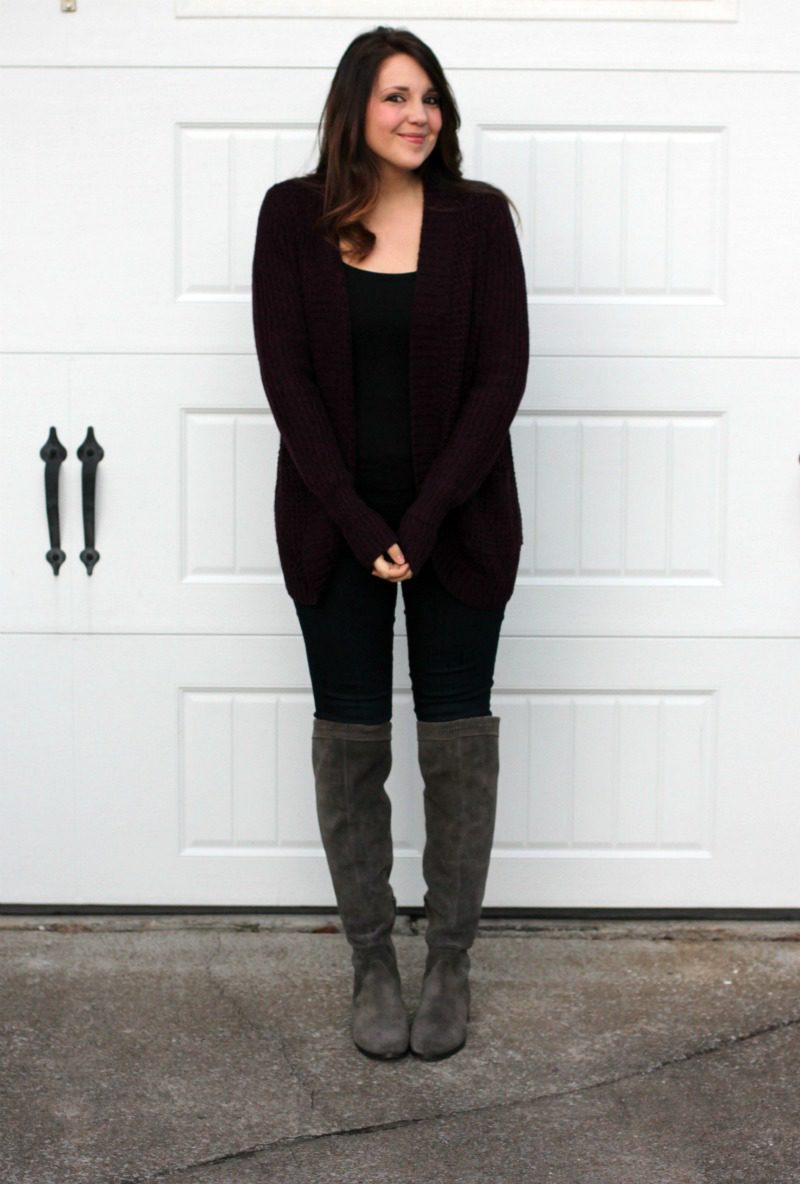 Stitch Fix Reveal, Stitch Fix Sweater, Stitch Fix, Stitch Fix Cardigan, RD Style Cardigan, Burgundy Cardigan, #StitchFix #Cardigan #BurgundySweater
