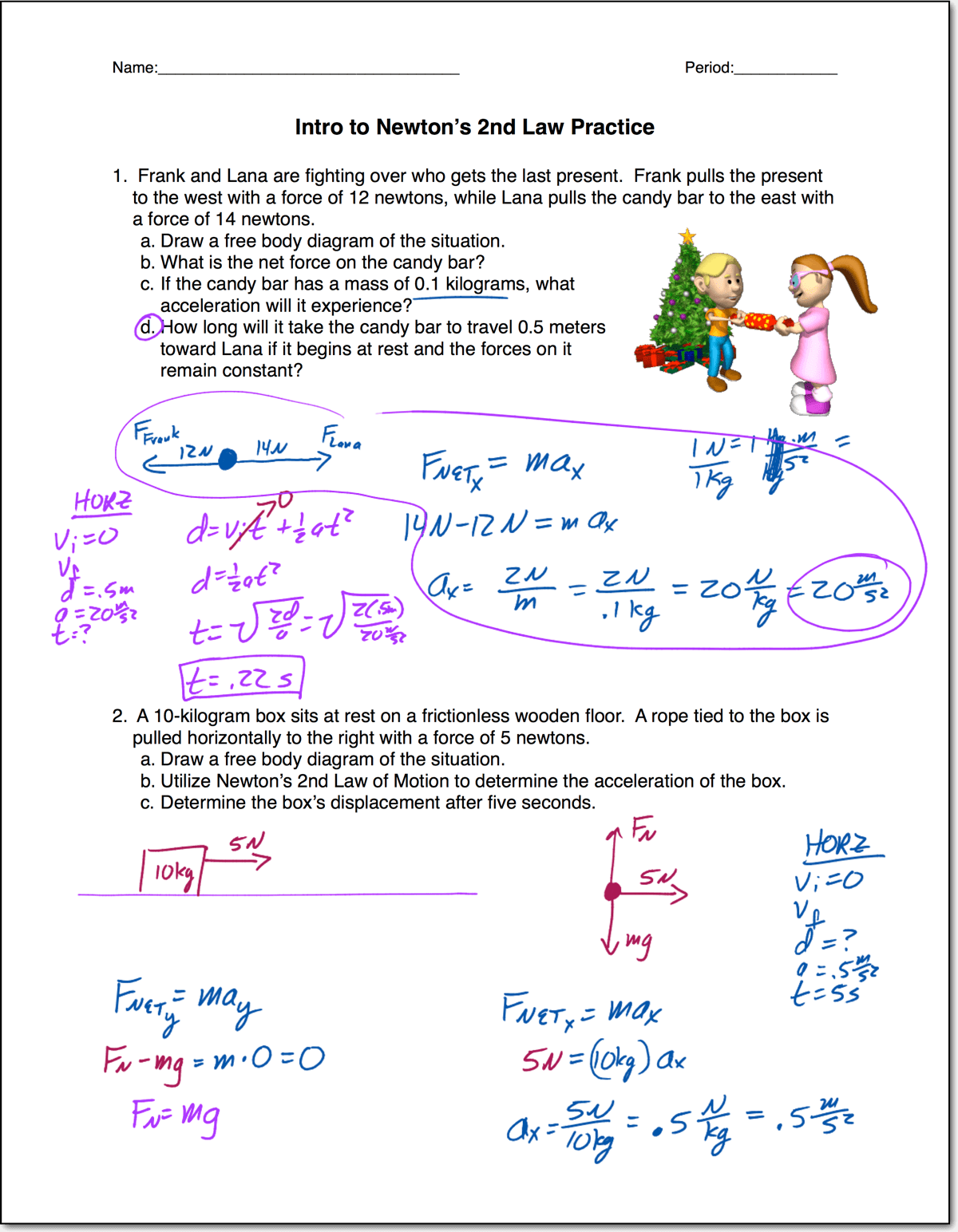 Intro To Newton S 2nd Law
