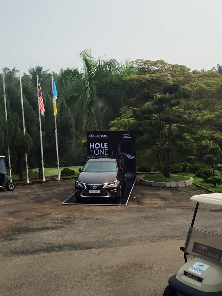The hole in one prize - a Lexus!