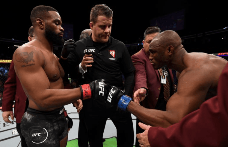 Kamaru Usman And Tyron Woodley Show Their Respect For Each Other
