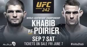 UFC 242 poster Khabib Nurmagomedov vs Dustin Poirier