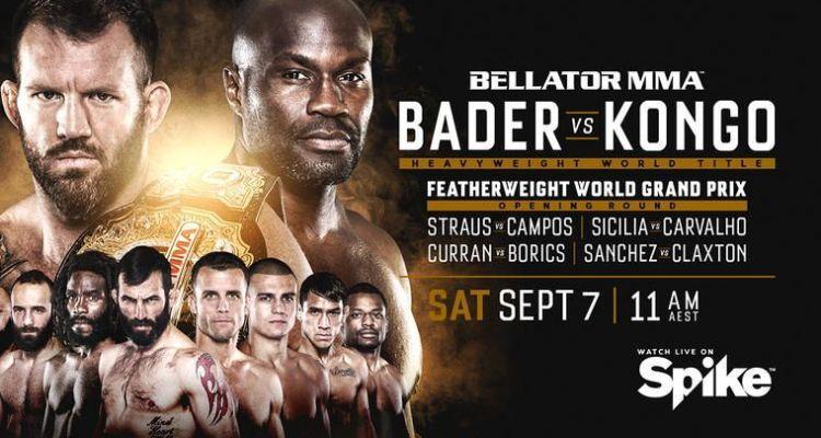 Bellator 226 poster Ryan Bader Cheick Kongo Featherweight Grand Prix
