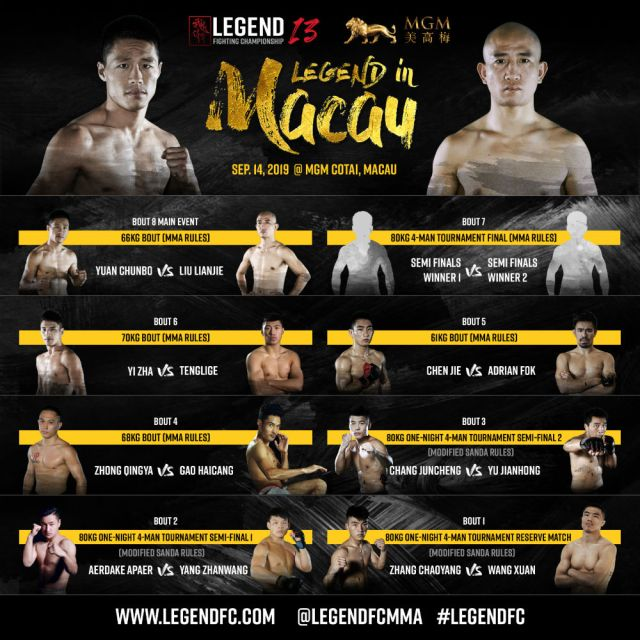 Legend Fighting Championship LFC 13 card
